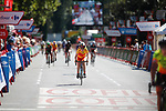 The Madrid Challenge by La Vuelta was ridden over 87km, with 15 laps on a 5.8km route around the iconic Plaza Cibeles, Madrid, Spain. 10th September 2017.<br /> Picture: Unipublic/&copy;photogomezsport | Cyclefile<br /> <br /> <br /> All photos usage must carry mandatory copyright credit (&copy; Cyclefile | Unipublic/&copy;photogomezsport)