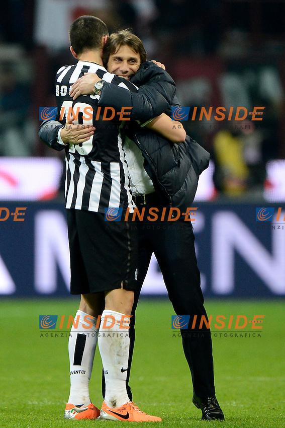 Leonardo Bonucci, Antonio Conte Juventus<br /> Milano 02-03-2014 Stadio Giuseppe Meazza - Football 2013/2014 Serie A. Milan - Juventus Foto Giuseppe Celeste / Insidefoto