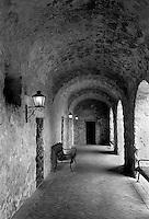 Mission Concepcion cloister, San Antonio, Texas.<br /> <br /> Canon EOS 1, 35mm f/2.8 lens, Kodak TMAX 100 film