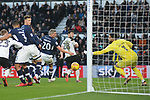 David Nugent of Derby County scores from the near post at a corner for Derby County's first goal during the championship league match between Derby and Millwall at Pride Park Stadium, Derby. Picture date 23rd December 2017. Picture credit should read: Joe Perch/Sportimage
