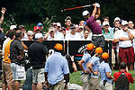 Tiger Woods (USA) teeing off on the 4th tee on day 1of the World Golf Championship Bridgestone Invitational, from Firestone Country Club, Akron, Ohio. 4/8/11.Picture Fran Caffrey www.golffile.ie