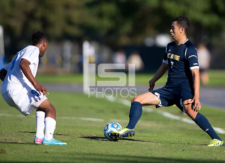 IRVINE, California - November 24, 2013: UCI defeated North Carolina 1-0 during a second round NCAA D1 Championship game at Anteater stadium on the campus of UC Irvine.