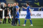 Trainer Alfred Schreuder (Hoffenheim) und Sebastian Rudy (Hoffenheim) schlagen nach Abpfiff ab.<br /> <br /> Sport: Fussball: 1. Bundesliga: Saison 19/20: 28. Spieltag: TSG 1899 Hoffenheim - 1. FC Koeln, 27.05.2020<br /> <br /> Foto: Markus Gilliar/GES/POOL/PIX-Sportfotos.<br /> <br /> Nur für journalistische Zwecke! Only for editorial use!<br /> <br /> Gemäß den Vorgaben der DFL Deutsche Fußball Liga ist es untersagt, in dem Stadion und/oder vom Spiel angefertigte Fotoaufnahmen in Form von Sequenzbildern und/oder videoähnlichen Fotostrecken zu verwerten bzw. verwerten zu lassen. DFL regulations prohibit any use of photographs as image sequences and/or quasi-video.