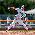 3 September 2018: Vermont Lake Monsters pitcher Chris Kohler on the mound against the Tri-City ValleyCats at Centennial Field in Burlington, Vermont. The Lake Monsters defeated the ValleyCats 9-6 in the last game of the 2018 NY Penn League regular season. Mandatory Credit: Ed Wolfstein Photo *** RAW (NEF) Image File Available ***