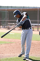 Ramon Morla #8 of the Seattle Mariners participates in spring training workouts the Mariners minor league complex on March 12, 2011  in Peoria, Arizona. .Photo by:  Bill Mitchell/Four Seam Images.