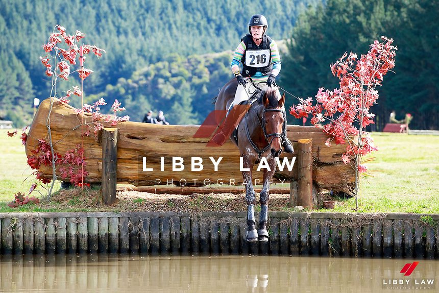 Ellie White rides Tui Teka during the Bates NZ CCI2* Championship Cross Country at the 2017 NZL-NRM National Three Day Event Championships. National Equestrian Center, Taupo. Saturday 13 May. Copyright Photo: Libby Law Photography