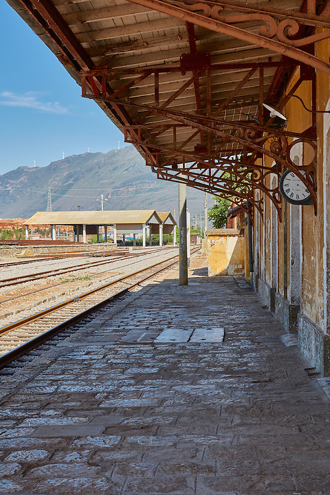 Bisezhai Station On The French-built Yunnan-Vietnam Railway (1909).  The Clock Was From Paris But Sadly Missing Its Hands.