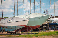 Boats in Dry Dock Bayfield Wisconsin.
