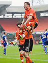 :: DUNDEE UTD'S DAVID GOODWILLIE CELEBRATES AFTER HE SCORES UNITED'S THIRD :: .23/04/2011   Copyright  Pic : James Stewart.sct_jsp009_dundee_utd_v_kilmarnock .James Stewart Photography 19 Carronlea Drive, Falkirk. FK2 8DN      Vat Reg No. 607 6932 25.Telephone      : +44 (0)1324 570291 .Mobile              : +44 (0)7721 416997.E-mail  :  jim@jspa.co.uk.If you require further information then contact Jim Stewart on any of the numbers above.........