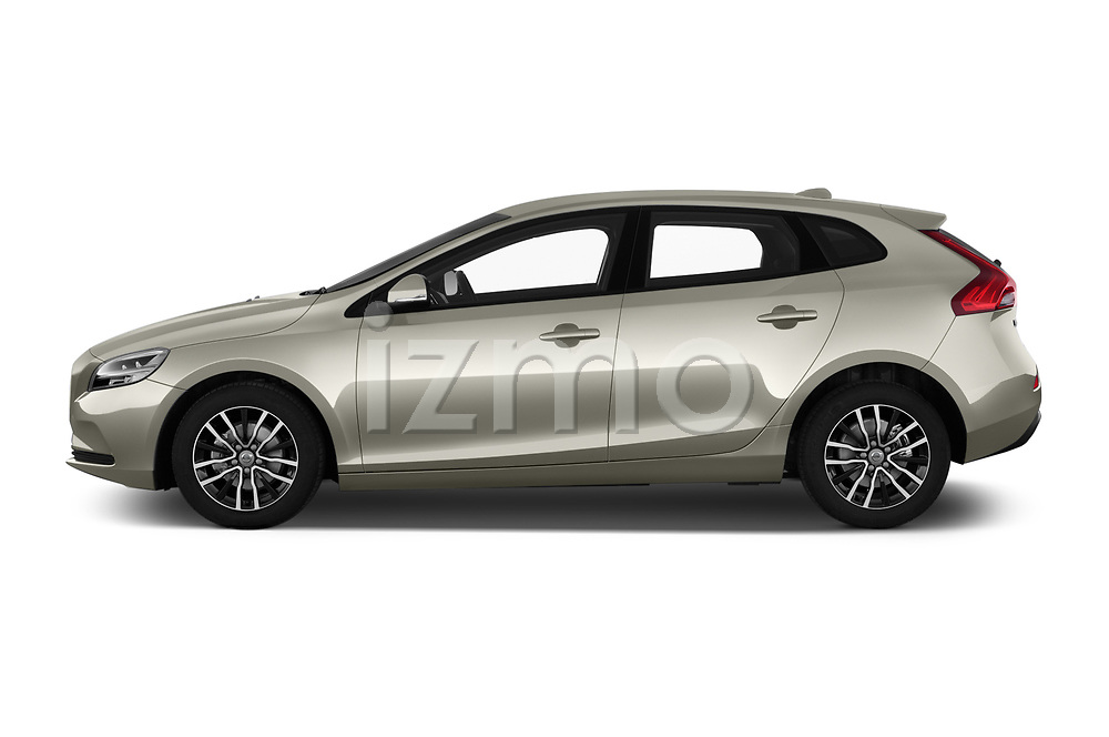 Car Driver side profile view of a 2017 Volvo V40 Momentum 5 Door Hatchback Side View