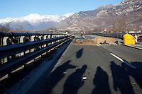 Val di Susa: blocco autostradale sull'A32 Torino-Bardonecchia all'uscita di Chianocco.....
