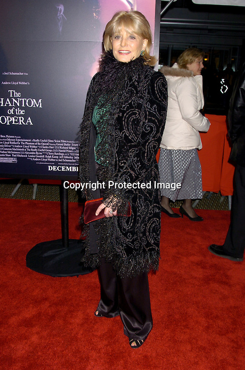 "Barbara Walters ..at The New York Premiere of ""Phantom of the Opera"" on ..December 12, 2004 at the Ziegfeld Theatre. ..Photo by Robin Platzer, Twin Images"