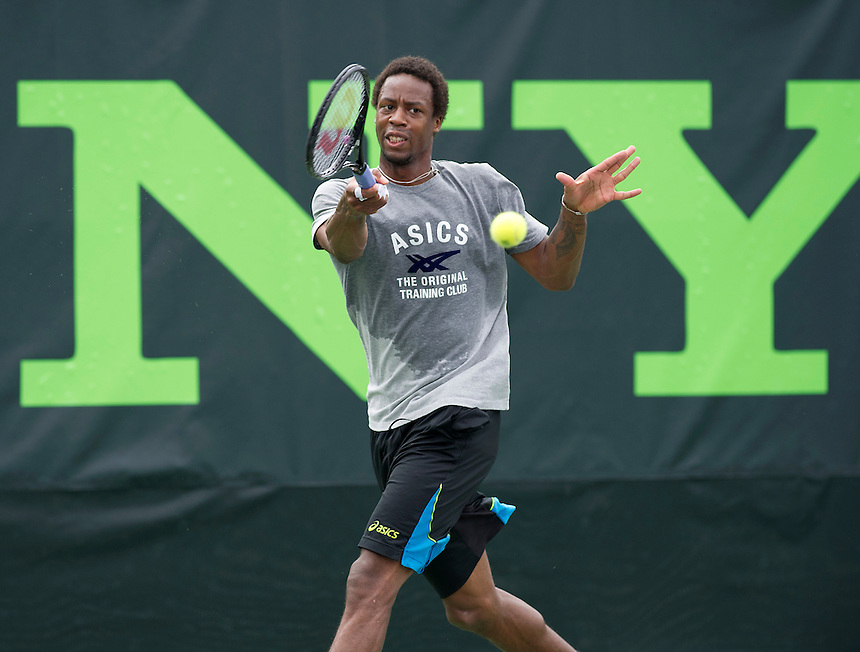 Gael Monfils (FRA) practices for his first round match<br /> <br /> Photographer Andrew Patron<br /> <br /> Tennis - Sony Open Tennis - ATP World Tour Masters 1000 - Day 2 - Tuesday 18th March 2014 - Tennis Center at Crandon Park Key Biscayne, Miami, Florida USA<br /> <br /> &copy; CameraSport - 43 Linden Ave. Countesthorpe. Leicester. England. LE8 5PG - Tel: +44 (0) 116 277 4147 - admin@camerasport.com - www.camerasport.com