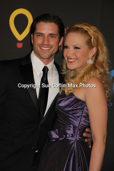 Scott Bailey and Adrienne Frantz at the 38th Annual Daytime Entertainment Emmy Awards 2011 held on June 19, 2011 at the Las Vegas Hilton, Las Vegas, Nevada. (Photo by Sue Coflin/Max Photos)