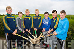 "Kierán Monaghan,Darren Nolan,Brian McNabola,Eoin McNabola,Alan Horgan,Evan Griffin and Liam Flaherty at the KILMOYLEY Hurling club  Fun ""Poc Fada"" Long Puck competition which was held on the bank holiday weekend."
