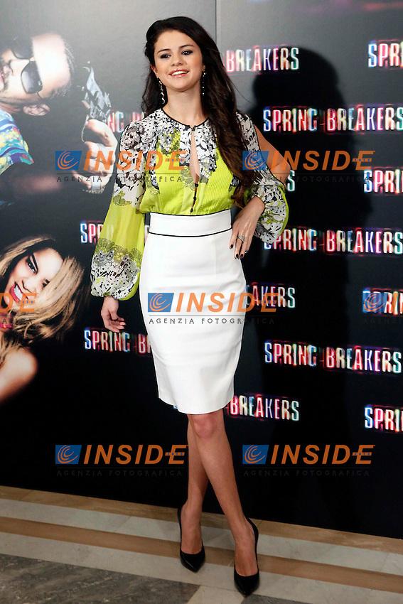 Selena Gomez attends 'Spring Breakers' photocall at Villamagna Hotel in Madrid. February 21, 2013. (ALTERPHOTOS/Caro Marin)