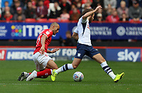 Ben Pearson of Preston North End tackles Darren Pratley of Charlton Athletic during Charlton Athletic vs Preston North End, Sky Bet EFL Championship Football at The Valley on 3rd November 2019