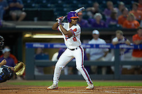 Jordan Greene (9) of the Clemson Tigers at bat against the Duke Blue Devils in Game Three of the 2017 ACC Baseball Championship at Louisville Slugger Field on May 23, 2017 in Louisville, Kentucky. The Blue Devils defeated the Tigers 6-3. (Brian Westerholt/Four Seam Images)