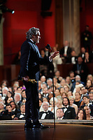 Joaquin Phoenix accepts the Oscar® for Actor In A Leading Role during the live ABC Telecast of The 92nd Oscars® at the Dolby® Theatre in Hollywood, CA on Sunday, February 9, 2020.<br /> *Editorial Use Only*<br /> CAP/AMPAS<br /> Supplied by Capital Pictures