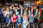 Ian McCoy, Ballyrickard, Tralee, celebrates his 18th birthday with family and friends at the Huddle Bar on Saturday