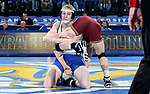 BROOKINGS, SD - NOVEMBER 17: Henry Pohlmeyer from South Dakota State grabs the leg of Tommy Thorn from the University of Minnesota during their 141 pound match Friday evening at First Arena in Brookings, SD.  (Photo by Dave Eggen/Inertia)