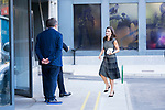 Queen Letizia of Spain arrives to Fundeu's headquarters in Madrid.  July 18, 2019. (ALTERPHOTOS/Francis Gonzalez)