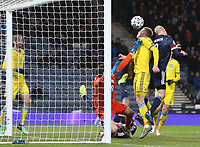 19th November 2019; Hampden Park, Glasgow, Scotland; European Championships 2020 Qualifier, Scotland versus Kazakhstan; Steven Naismith of Scotland puts Scotland into the lead, making it 2-1 in the 64th minute - Editorial Use