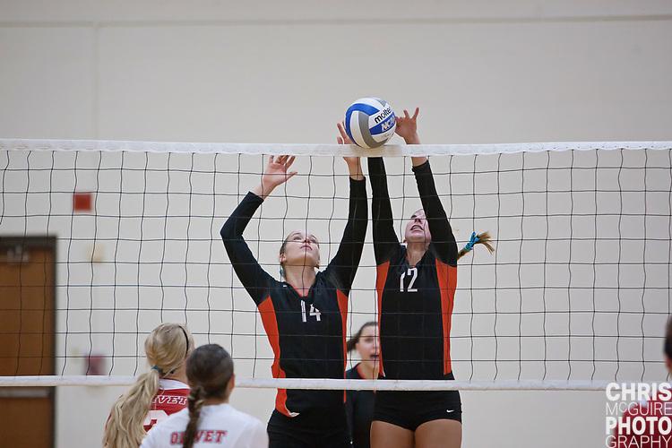 09/14/11 - Kalamazoo, MI: Kalamazoo College volleyball vs Olivet College.  Kalamazoo won 3-0 (25-13, 25-13, 25-18).  Photo by Chris McGuire.
