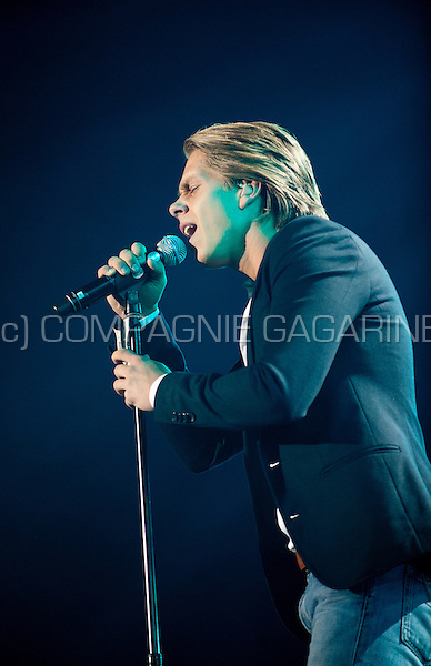 Dutch singer André Hazes jr in concert at the Schlagerfestival in Hasselt (Belgium, 31/03/2013)