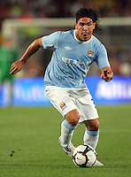 Carlos Tevez.during the Joan Gamper Trophy match between Barcelona and Manchester City at the Camp Nou Stadium on August 19, 2009 in Barcelona, Spain. Manchester City won the match 1-0. .Foto Insidefoto / Eoin Mundow /Cleva Media.ITALY ONLY.