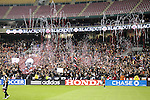 1 November 2007: DC United fans fire confetti at the beginning of the first half. The Chicago Fire tied DC United 2-2 at RFK Stadium in Washington, DC in the second leg of a first round Major League Soccer playoff match. Chicago advanced on aggregate goals, 3-2.
