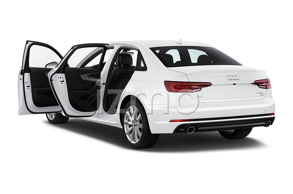 Car images close up view of a 2018 Audi A4 Premium 4 Door Sedan doors