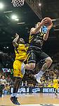 07.01.2018, EWE Arena, Oldenburg, GER, BBL, Eisb&auml;ren EWE Baskets Oldenburg vs WALTER Tigers T&uuml;bingen, im Bild<br /> <br /> Reggie UPSHAW  (T&uuml;bingen #30 )<br /> Frantz MASSENNAT (EWE Baskets Oldenburg #10)<br /> Foto &copy; nordphoto / Rojahn