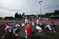 23 May 2009: Team La Guerche is seen during the 2009 challenge de France, a tournament with the best French baseball teams - all eight elite league clubs - to determine a spot in the European Cup next year, at Montpellier, France. Rouen wins 6-2 over La Guerche.