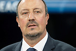 Real Madrid´s coach Rafa Benitez during Champions League soccer match between Real Madrid and Shakhtar Donetsk at Santiago Bernabeu stadium in Madrid, Spain. Spetember 15, 2015. (ALTERPHOTOS/Victor Blanco)