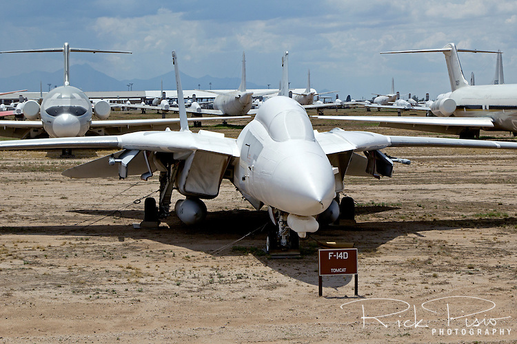 F-14D Tomcat along Celebrity Row at the AMARG Facility at Davis Monthan AFB in Tucscon, Arizona
