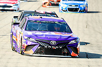 July 16, 2017 - Loudon, New Hampshire, U.S. - Denny Hamlin, Monster Energy NASCAR Cup Series driver of the FedEx Office Toyota (11), races at  the NASCAR Monster Energy Overton's 301 race held at the New Hampshire Motor Speedway in Loudon, New Hampshire. Eric Canha/CSM