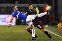 Fabio Quagliarella Sampdoria, Ricardo Rodriguez Milan <br /> Genova 12-1-2019 Stadio Marassi <br /> Football Italy Cup 2018/2019 Sampdoria - Milan Foto Image Sport  / Insidefoto