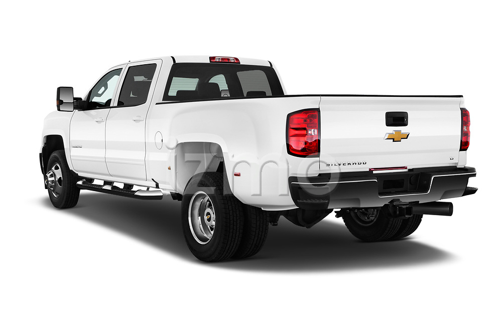 Car pictures of rear three quarter view of 2017 Chevrolet Silverado-3500HD LT-Crew-DRW 4 Door Pick-up Angular Rear