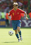 23 June 2006: Michel Salgado (ESP). Saudi Arabia lost to Spain at Fritz-Walter Stadion in Kaiserslautern, Germany in match 47, a Group H first round game, of the 2006 FIFA World Cup.