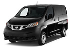 2014 Nissan NV 200 Cargo S 5 Door Van Angular Front stock photos of front three quarter view