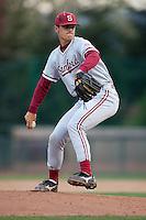SANTA CLARA, CA - April 19, 2011: A.J. Vanegas of Stanford baseball pitches during Stanford's game against Santa Clara at Stephen Schott Stadium. Stanford won 10-3.