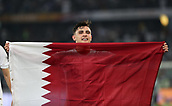 February 1st 2019; Adu Dhabi, United Arab Emirates; Asian Cup football final, Japan versus Qatar;  Bassam Al Rawi of Qatar celebrates after the final match