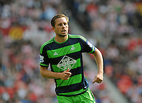 Gylfi Sigurosson of Swansea City during the Barclays Premier League match between Sunderland and Swansea City played at Stadium of Light, Sunderland