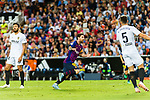 Lionel Messi of FC Barcelona (C) celebrating his score during their La Liga 2018-19 match between Valencia CF and FC Barcelona at Estadio de Mestalla on October 07 2018 in Valencia, Spain. Photo by Maria Jose Segovia Carmona / Power Sport Images