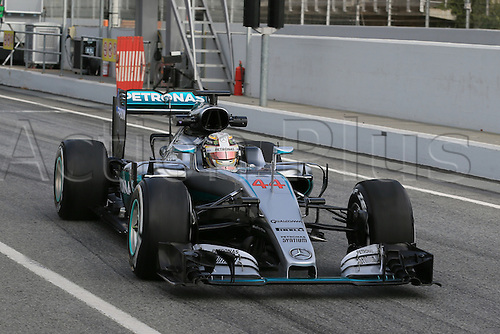 24.02.2016. Circuit de Catalunya, Barcelona, Spain. Day 3 of the Spring F1 testing and new car unvieling for 2016-17 season.  Mercedes AMG Petronas F1 W07 Hybrid – Lewis Hamilton