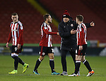 Chris Wilder manager of Sheffield Utd rallies the players during the English League One match at Bramall Lane Stadium, Sheffield. Picture date: November 29th, 2016. Pic Simon Bellis/Sportimage