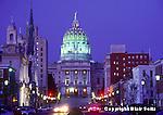 PA Capitol, Harrisburg, PA, Architect Joseph Huston, State Street West, Historically Authentic, Night Lights