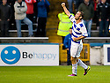 MORTON'S PETER MACDONALD CELEBRATES AFTER HE SCORES THE SECOND