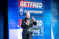 Picture by Allan McKenzie/SWpix.com - 25/09/2018 - Rugby League - Betfred Championship & League 1 Awards Dinner 2018 - The Principal Manchester- Manchester, England - Dave Woods presents the awards.